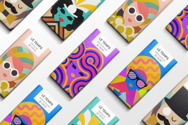 Flat Illustration packaging trend 2019