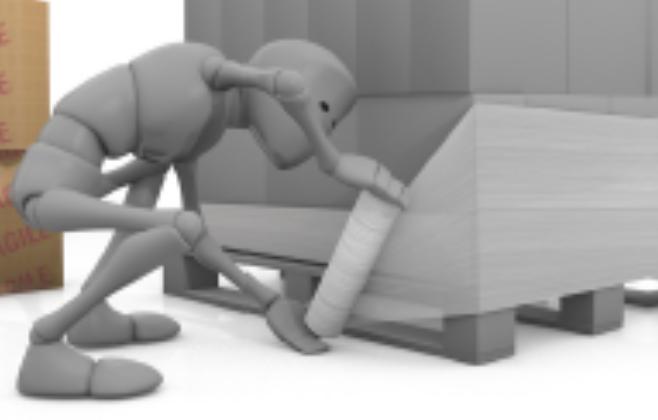 Palletwrap difficulty bending